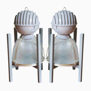 Industrielle Deckenlampen oder Stehlampen von Prismalume, 2er Set