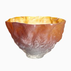 Mould Blown Bowl in Amber by Edmond Byrne