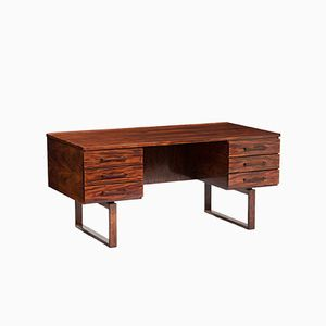Vintage Danish Rosewood Writing Desk by Kai Kristiansen for Schou Andersen