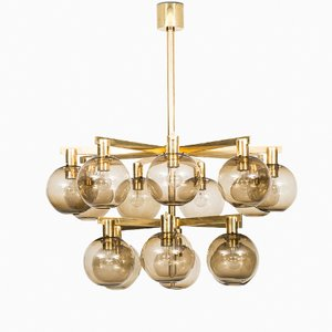 Swedish T348/15 Ceiling Lamp from Hans-Agne Jakobsson, 1960s