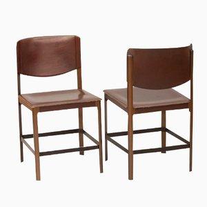 Italienische Korium Stühle von Tito Agnoli für Matteo Grassi, 1970er, 2er Set