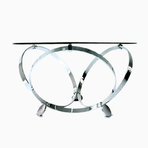 German Space-Age Chrome Ring Coffee Table by Knut Hesterberg, 1970s