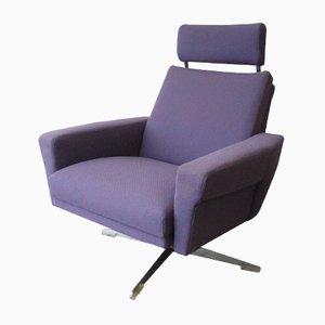 Vintage Dutch Adjustable Swivel Armchair, 1960s