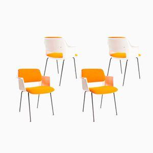 Niederländische 2216 Esszimmerstühle von A.R.Cordemeyer für Gispen, 1969, 4er Set