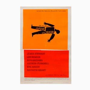 Poster vintage del film Anatomia di un omicidio di Saul Bass, 1959