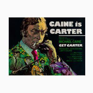 Vintage British Get Carter Film Poster by Arnaldo Putzu, 1971