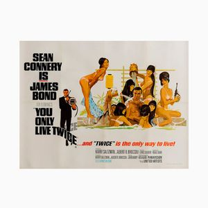 Vintage British You Only Live Twice Film Poster by Robert McGinnis, 1967