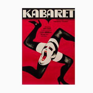 Polnisches Vintage Cabaret Filmplakat von Wiktor Górka, 1973