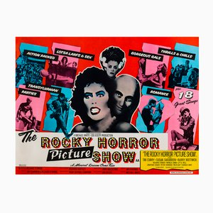 Vintage British The Rocky Horror Show Film Poster by John Pasche, 1975