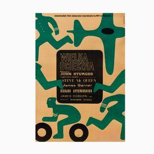 Polnisches Vintage Gesprengte Ketten Filmplakat von Wiktor Górka, 1967