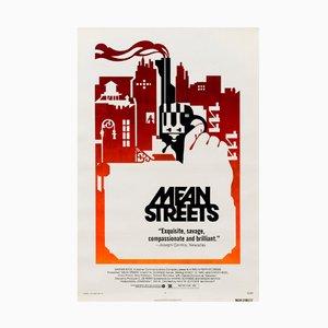 Poster vintage del film Mean Streets, Stati Uniti, 1973
