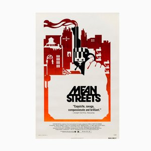 Vintage American Mean Streets Film Poster, 1973