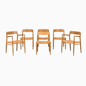 Model 56 Dining Chairs by Niels O. Møller for J.L Møllers Møbelfabrik, Set of 6