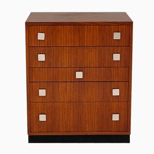 Zingana Wood Chest of Drawers with 5 Drawers by Alfred Hendrickx for Belform