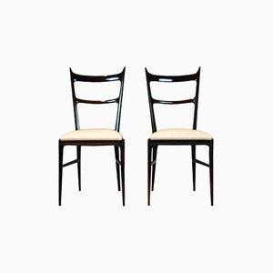 Italienische Palisander Stühle von Carlo di Carli, 1950er, 2er Set
