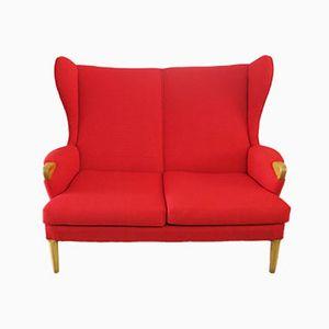 rotes vintage sofa mit hoher r ckenlehne von parker knoll 1960er. Black Bedroom Furniture Sets. Home Design Ideas