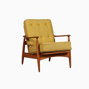 Mid-Century Scandinavian Adjustable Easy Chair by Arne Vodder for France & Daverkosen, 1950s