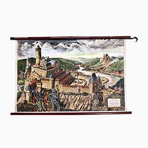 Affiche Educative Mid-Century Château du Roi