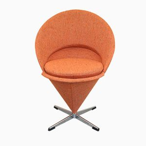 Vintage Orange Cone Chair by Verner Panton