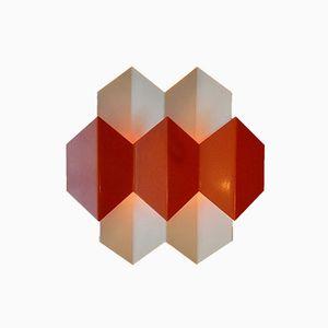 Dänische Orangefarbene Wandleuchten von Bent Karlby für Lyfa, 1970er, 2er Set