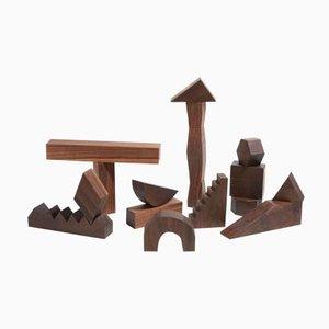 Blocchi per costruzioni scolpiti di Noah Spencer per Fort Makers