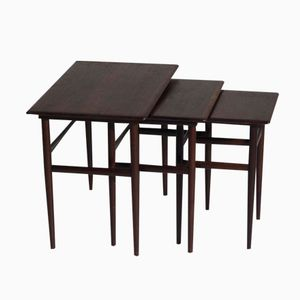 Danish Rosewood Nesting Tables from Amager Bolighus, 1960s