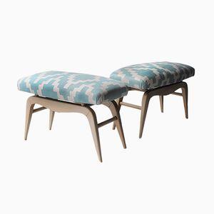 Swedish Bentwood Footstools, Set of 2
