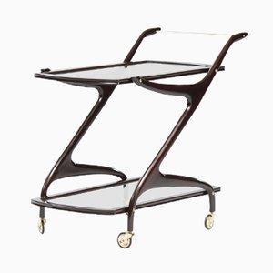 Vintage Italian Ebonized Wooden Bar Cart