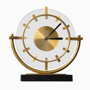 Französische Mid-Century Messing Uhr von Bayard