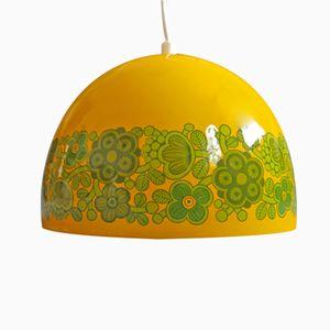 Gelbe Vintage Arabia Hängelampe von Kaj Franck für Fog & Mørup