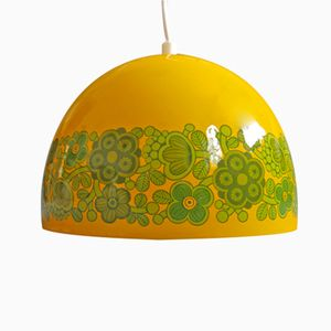Lampe à Suspension Arabia Vintage Jaune par Kaj Franck pour Fog & Mørup