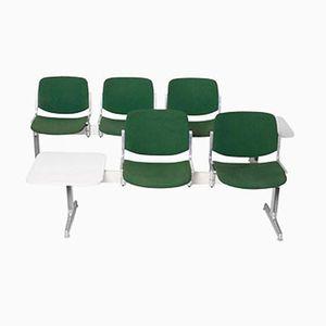 Italienische Sitzbänke mit Endtisch von Giancarlo Piretti für Castelli, 1970er, 2er Set