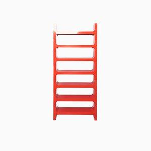 Rotes Modulares Italienisches ABS Bücherregal von Jo Je Bins für Vardani Design, 1970er