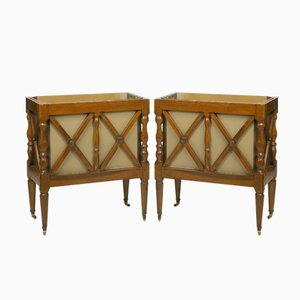 Antique French Walnut Planters, Set of 2