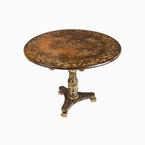 Table d'Appoint Colonial Antique Laquée