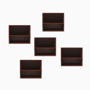 Danish Rosewood Bookcases from Bramin Furniture, Set of 5
