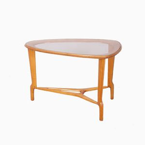 Vintage Danish Wood and Glass Coffee Table, 1960s
