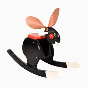 Scandinavian Rocking Bunny Children's Toy by Bjorn Dahlstrom for Playsam, 1980s