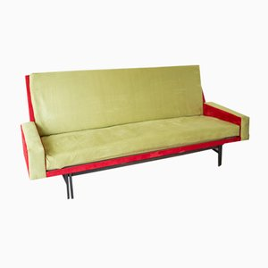 French Three-Seater Convertible Sofa Bed by René Jean Caillette for Steiner, 1961