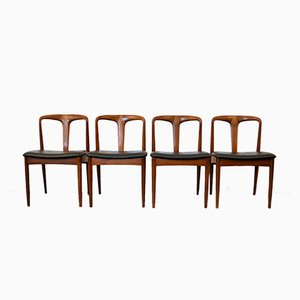 Danish Juliane Teak Dining Chairs by Johannes Andersen for Uldum Møbelfabrik, 1950s, Set of 4