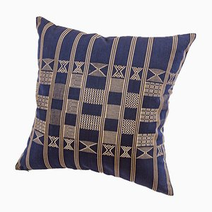 Minna Decorative Cushion in Indigo Blue by Nzuri Textiles
