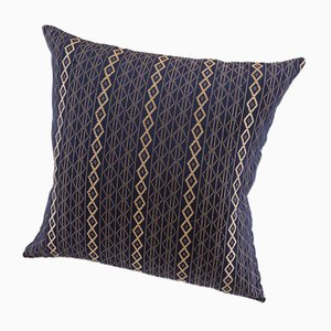 Mbake Decorative Cushion in Indigo Blue by Nzuri Textiles