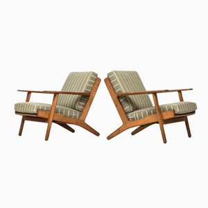 Danish GE-290 Easy Chairs by Hans J. Wegner for Getama