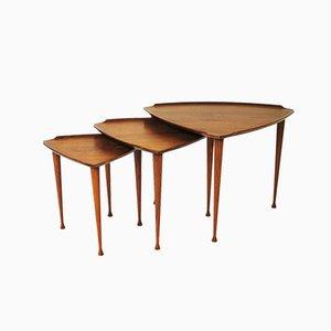Danish Teak Nesting Tables by Poul Jensen for Selig