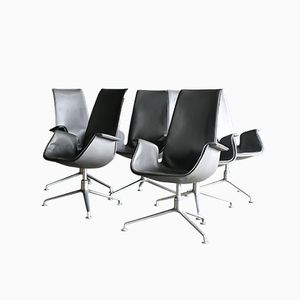 Mid-Century FK 6725 Conference Chairs by Preben Fabricius & Jørgen Kastholm for Alfred Kill, Set of 6