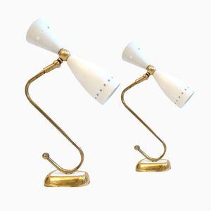 Italienische Wandlampen von Stillnovo, 1950er, 2er Set