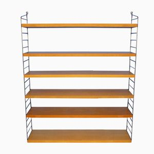 Mid-Century Ash Shelving System with 6 Boards by Katja & Nisse Strinning for String