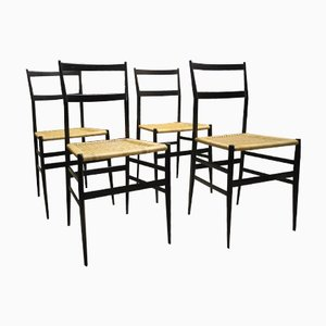 Italian Chairs by Gio Ponti for Cassina, 1957, Set of 4