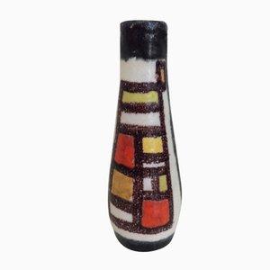 Glasierte Italienische Keramik Vase von Guido Gambone, 1950er
