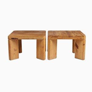 Table d'Appoint ou Tabouret en Pin par Roland Williamsson, Suède, 1969